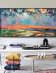 cheap -Original Forest Painting on Canvas Handmade Hand Painted Wall Art Stretched Frame Ready to Hang Large Abstract Coloured Sky Landscape Acrylic Painting Living Room Wall Art Decor