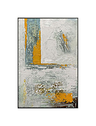 cheap -Oil Painting Handmade Hand Painted Wall Art Square Simple Modern Abstract Paintings Home Decoration Decor Stretched Frame Ready to Hang