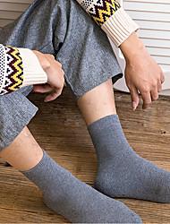 cheap -Comfort Men's Socks Solid Colored Socks Warm Casual Light gray 1 Pair