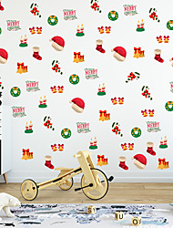 cheap -Christmas Children's Room Decoration Stickers Waterproof Cartoon Christmas Decoration Self-adhesive DIY Wall Stickers