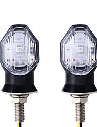 cheap -OTOLAMPARA 2pcs 8mm Black 5W LED Turn Signal Blinker Light Amber Lightness Turn Signal Lights Flashing For Motorcycle Indicator Lights