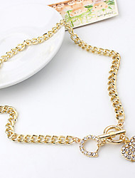 cheap -Pendant Necklace Charm Necklace Women's Geometrical Zircon Heart Fashion Lovely Wedding Gold 50 cm Necklace Jewelry 1pc for Christmas Wedding Street Gift Daily Geometric