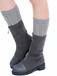 cheap -Fashion Comfort Women's Socks Solid Colored Socks Casual Socks Warm Casual Wine 1 Pair / Dress & Trouser Socks / Leg Warmers