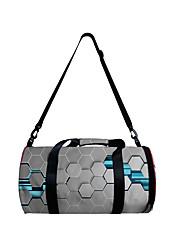 cheap -Unisex Bags Polyester Duffle Bag Zipper 3D Digital Print Daily Outdoor 2021 3D Print Purple Blushing Pink Gray