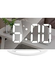 cheap -Smart Electronic Digital Alarm Clock LED Mirror Snooze Table 2 USB Output Ports Phone Charging Auto Adjustable Light Clock