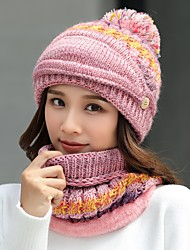 cheap -Women's Beanie Hat  Scarf Set with Face Mask Thermal Warm Windproof Hat Winter Snowboard for Skiing