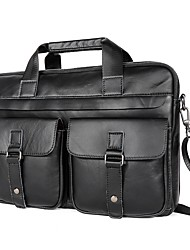cheap -Men's Bags Genuine Leather Cowhide Briefcase Business Formal Work Black Brown