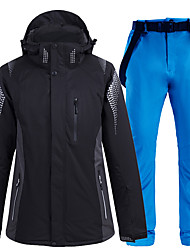 cheap -ARCTIC QUEEN Men's Ski Jacket with Bib Pants Thermal Warm Waterproof Windproof Breathable Detachable Hood Winter Clothing Suit for Snowboarding Ski Mountain / Cotton / Women's