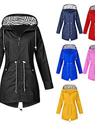 cheap -women's rain jacket solid waterproof and windproof outdoor plus size hooded raincoat parka winter jacket klgda red