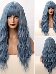 cheap -Synthetic Wig Curly Deep Wave Neat Bang Wig Long A1 A2 A3 A4 A5 Synthetic Hair Women's Cosplay Easy to Carry Fashion Mixed Color