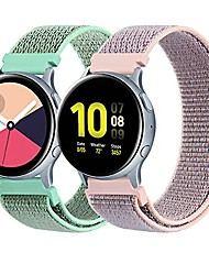 cheap -20mm nylon bands compatible for samsung galaxy watch 4 band 44mm 40mm, galaxy watch 4 classic band 46mm 42mm ,samsung galaxy active 2 watch band 40mm 44mm / active watch, 20mm soft bands for women men