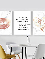 cheap -Wall Art Canvas Prints Painting Artwork Picture Love Hearts Home Decoration Decor Rolled Canvas No Frame Unframed Unstretched