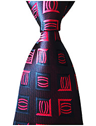 cheap -Men's Party / Work / Gentleman Necktie - Plaid / Geometric Formal Style / Classic / Holiday