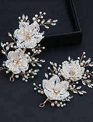 cheap -White Rhinestone Millet Beads Handmade Hairpin Bride Wedding Accessories Wedding Jewelry Headwear