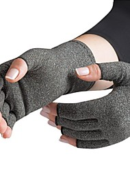 cheap -1 Pair Fingerless Gloves Winter Knitted Stretch Half Finger Elastic Soft Warm Arthritic Joint Pain Relief Hand Compression Gloves