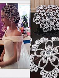cheap -Bride Wedding Accessories Wedding Styling Headdress Rhinestone Alloy Big Crown Photo Studio Photo Hair Accessories