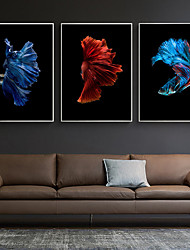 cheap -Wall Art Canvas Prints Painting Artwork Picture  Fish Home Decoration Decor Rolled Canvas No Frame Unframed Unstretched