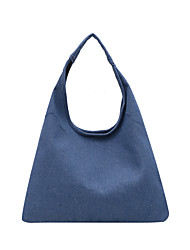 cheap -Women's Bags Denim Canvas Tote Bag Solid Color Daily Retro Blue Royal Blue