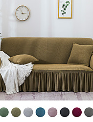 cheap -Solid Color Sofa Slipcover Sofa Cover 1 Piece Easy Fitted Sofa Couch Cover Universal High Stretch Durable Furniture Protector with Skirt Country Style