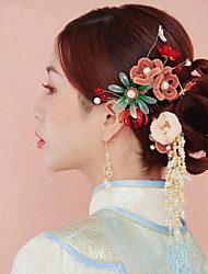 cheap -1 Piece Headdress Bride Ancient Style Phoenix Coronet Atmosphere Chinese Wo Dress Red Xiuhe Dress Wedding Step Ancient Decorations Women