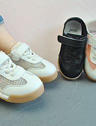cheap -Boys' Girls' Flats Comfort First Walkers School Shoes Mesh Sporty Look Little Kids(4-7ys) Training Daily Running Shoes Soccer Shoes Buckle Orange White Black Spring Summer