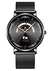 cheap -REWARD Men's  Luxury Men Watch Mesh Belt Waterproof Men's Watch Calendar Week Clock Quartz Watches Analog Quartz Stylish Large Dial