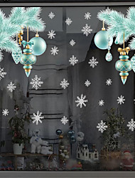 cheap -2pcs Christmas Snow Wall with Christmas Blue Window Stickers 30*40cm