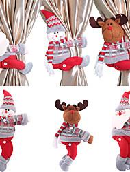 cheap -1 Pc Christmas Curtains Buckle Tieback Santa & Snowman,Curtains Tiebacks Holdback Fastener Buckle Clamp Window Decorations Wine Bottle Topper Christmas Ornaments Home Décor