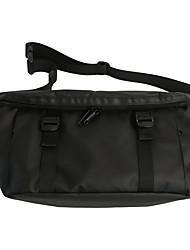 cheap -Men's Unisex Bags Oxford Cloth Nylon Crossbody Bag Zipper Solid Color Daily Outdoor Retro Tote Messenger Bag White Black