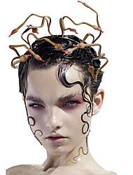 cheap -Horn Headband Black Party Horns Headpiece Halloween Cosplay Party Headband Costume Accessory 23*23cm
