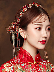 cheap -1 Piece Bride Xiuhe Headdress Spring Chinese Style Phoenix Crown Wedding Wedding Clothing Costume Hair Accessories