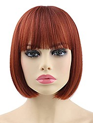 """cheap -halloweencostumes Women's Short Bob Wigs for Women Short Hair Wig for Women 10"""" Hair Wigs Short with Air Bangs Cosplay Wigs for Girls Party Wigs for White Women"""