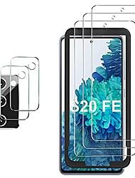 cheap -screen protector compatible with samsung galaxy s20 fe, [3 screen protectors+2 camera protectors][support fingerprint] tempered glass screen protector compatible for galaxy s20 fe 5g/4g(clear)