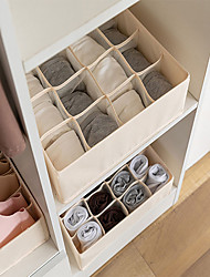 cheap -Foldable Layered Underwear Storage Box Moisture-proof And Dust-proof Two In One Storage Box 32*32*10cm