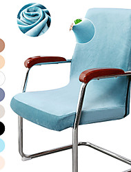 cheap -Velvet Computer Office Chair Cover Gaming Chair Stretch Chair Slipcover Plain Solid Color Durable Washable Furniture Protector