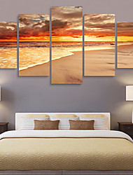 cheap -5 Panels Wall Art Canvas Prints Painting Artwork Picture Landscape Home Decoration Decor Rolled Canvas No Frame Unframed Unstretched