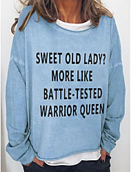 cheap -sweet old lady more like battle tested warrior queen crew neck casual long sleeve sweatshirt