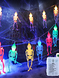 cheap -Halloween Light 3M 20LEDs Halloween Remote Control LED String Light Skull Shaped Light Waterproof Battery Box Halloween Party Horror Atmosphere Garden Decoration Light