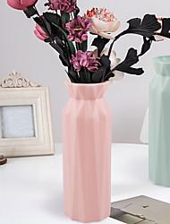 cheap -Fall-resistant Vase European-style Decoration Plastic Vase Fall-resistant Creative Nordic Color Vase Color Imitation Glaze Flower