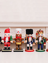 cheap -Christmas Decoration Scene Ornaments Puppets Nutcracker Drummer Swordsman With Knife And Axe Soldier Window Desktop Ornaments