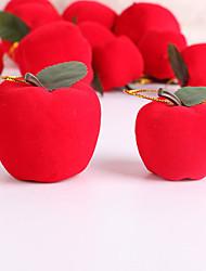 cheap -Christmas Tree Pendant Pendant Red Flocking Apple Gadgets Shopping Mall Bar Christmas Tree Decorations