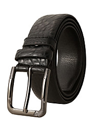 cheap -Men's Waist Belt Work Coffee Black Belt Solid Color