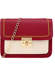 cheap -Women's Bags PU Leather Crossbody Bag Chain Embroidery Party / Evening Daily Leather Bag Chain Bag Blushing Pink Green White Black