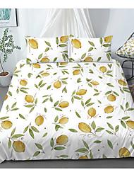 cheap -Print Home Bedding Duvet Cover Sets Soft Microfiber For Kids Teens Adults Bedroom Fruit Lemon 1 Duvet Cover + 1/2 Pillowcase Shams