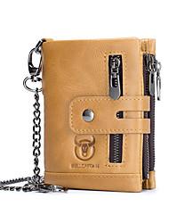 cheap -Men's Bags Genuine Leather Cowhide Wallet Formal Work Yellowish brown Black Brown