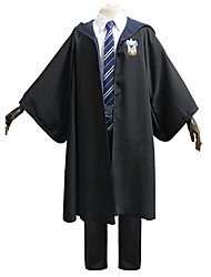 cheap -Harry Potter Ravenclaw Outfits Masquerade Men's Movie Cosplay Vacation Halloween Black Vest Blouse Pants Halloween Carnival Masquerade Polyester / Cloak / Tie / Cloak / Tie