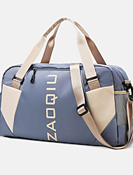 cheap -Women's Large Capacity Waterproof Sports Oxford Cloth Travel Bag Zipper Color Block Letter Daily Outdoor Purple Light Purple Pink Green