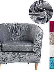 cheap -Velvet Club Chair Slipcover, Soft Stretch Tub Chair Cover for Living Room and Bedroom, Washable and Removable Armchair Protector, Furniture Protector for Home Decor