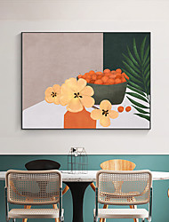 cheap -Wall Art Canvas Prints Painting Artwork Picture Floral Still Life Home Decoration Decor Rolled Canvas No Frame Unframed Unstretched