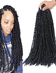 cheap -Synthetic Extentions Hair Braids Goddess Locs Bouncy Curl Synthetic Hair 16 inch Hair Extension Clip In / On Weft Toupee Black Burgundy Light Brown 5-Pack Odor Free Soft Adjustable Female All Party